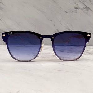 😎 Ray-Ban Blaze Clubmaster Gold Blue RB3576N